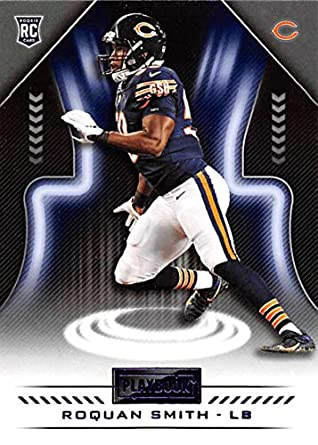 7419282c016 2018 Playbook Purple Parallel Football #134 Roquan Smith Chicago Bears  Rookie Official NFL Card Produced