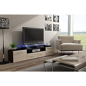 Evora Meuble TV bas 194 cm (envergure et crème)
