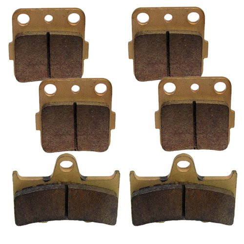 Grizzly Front (Caltric Brake Pads Fits YAMAHA Grizzly 660 YFM660 Front Rear Brakes 2002-2008)
