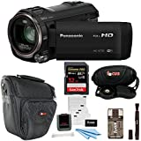 Panasonic HC-V770 HD Camcorder w/SanDisk 32GB SD Card & Focus Accessory Bundle
