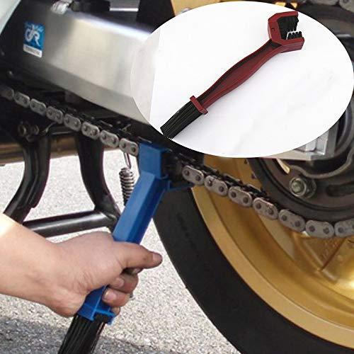 2 cepillos para quitar la suciedad y el aceite de freno, para cadena de motocicleta, herramientas para quitar