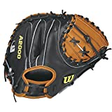Wilson A2000 Pudge Baseball Catcher's Mitt, Orange Tan/Black, Right Hand Throw, 32.5-Inch