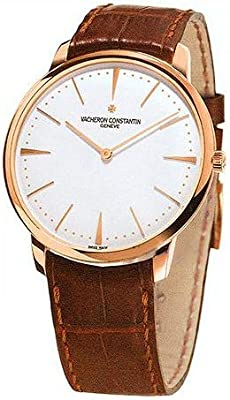 Vacheron Constantin Patrimony Grand Taille Rose Gold Brown Alligator Mens Watch 81180000R-9159