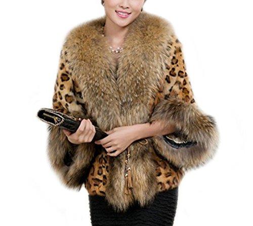 Women Ladies Fashion Faux Fur Leopard