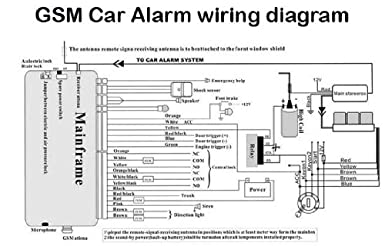 amazon com car alarm wiring diagrams color and install directions rh amazon com car alarm wiring diagrams free download car alarm system wiring diagram