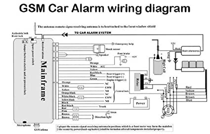amazon com car alarm wiring diagrams color and install directions rh amazon com Cobra Car Alarm Wiring Diagram Car Alarm Wiring Diagram
