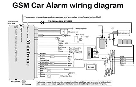 amazon com car alarm wiring diagrams color and install directions rh amazon com house alarm wiring diagrams pdf alarm wiring diagram 96 gmc sierra