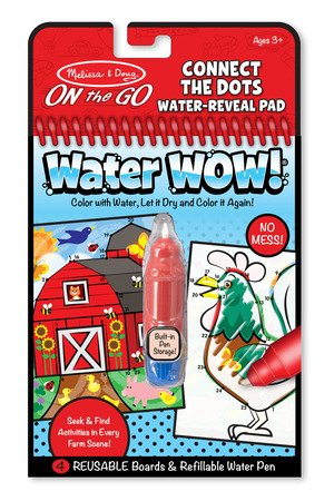 Melissa & Doug On The Go Water Wow Bundle Connect the Dots Farm, Pet Mazes and Safari