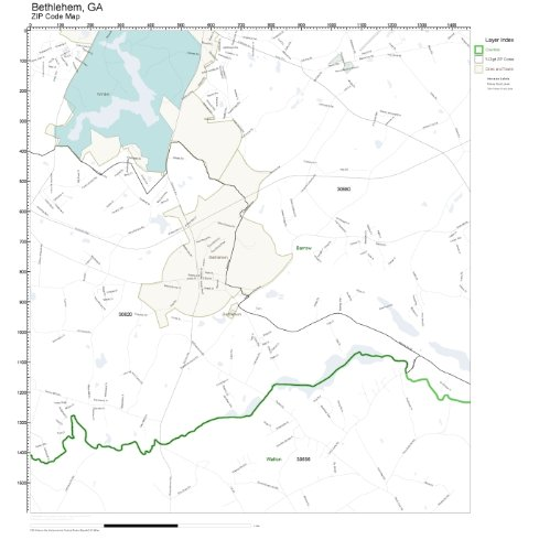 ZIP Code Wall Map of Bethlehem, GA ZIP Code Map Laminated]()