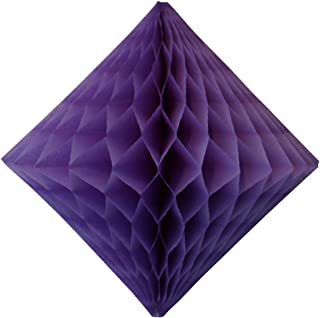 product image for 3-Pack 12 Inch Lavender Honeycomb Diamond Decoration