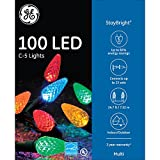 GE 100CT StayBright C5 LED Christmas Light String Set - Multi Color