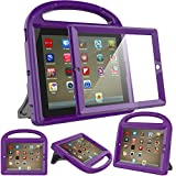 Surom Shockproof Case Light Weight Kids Case for iPad 4, iPad 3 & iPad 2 2nd 3rd 4th Generation,iPad 2 3 4 Shockproof Case Super Protection Cover Handle Stand Case for Children - Purple