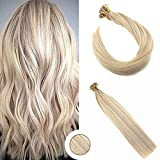 Best Human Hair Extensions - Ugeat 16inch Flat Tip Fusion Hair Extensions Piano Review