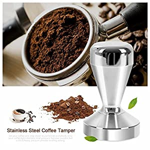 Espresso Coffee Tamper, oobest Stainless Steel Bariata Espresso Tamper 51mm Base Coffee Bean Press Tool ,Barista Style from oobest