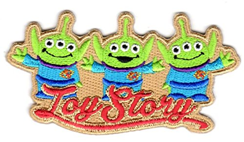 ワッペン ディズニー TOYSTORY トイストーリー (エイリアン) リトルグリーンメン アイロン パッチ Disney PIXAR ピクサー キャラクター 雑貨 カスタム グッズの商品画像