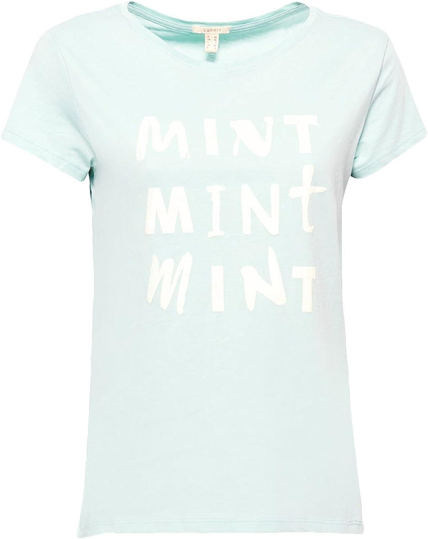 Esprit Camiseta Mujer White Verde Agua: Amazon.es: Ropa y ...