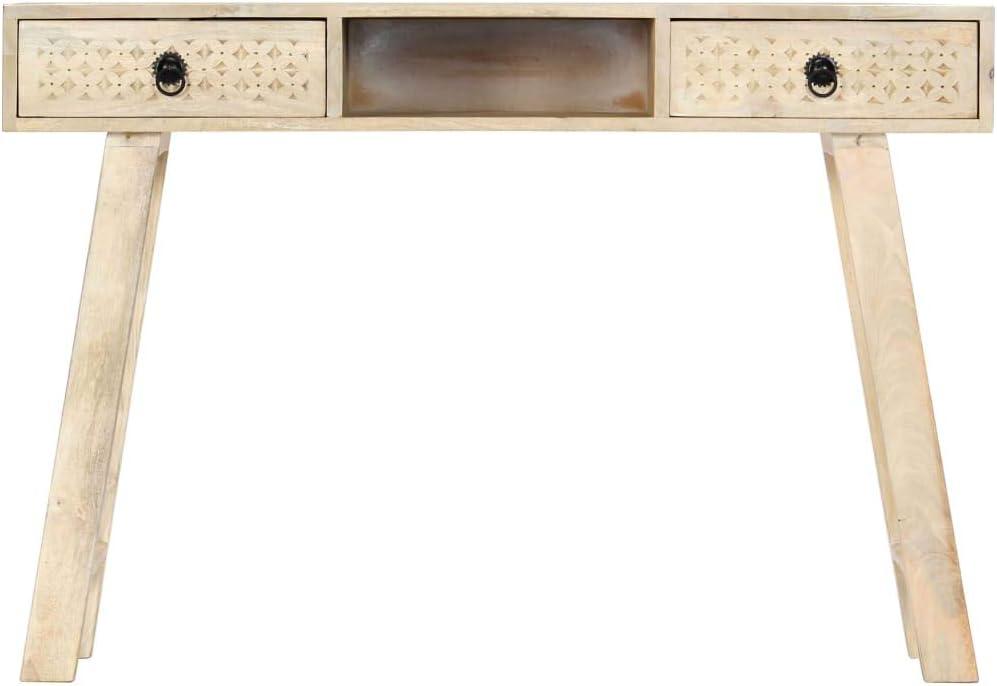 Verzending Over De Hele Wereld Tidyard consoletafel, dressoir, 110 x 35 x 76 cm, met 2 laden en 1 open vak, tafelconsole, woonkamertafel, bijzettafel, gepolijst en gelakt Material:mango-massivholz Yc4nc6h