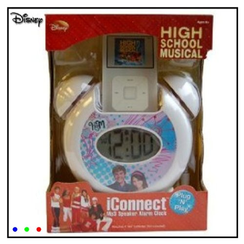 Disney High School Musical iConnect Mp3 Speaker Alarm Clock