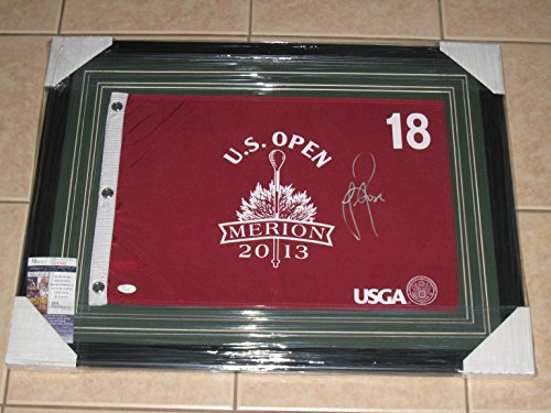 - Justin Rose Autographed 2013 US Open Flag from Merion -