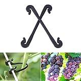 Kisstaker Garden Plant Clips, Garden Tool 100pcs Plastic Grapes Clips Vegetable Flower Plant Graft Clamp Grafting Vines Clipper