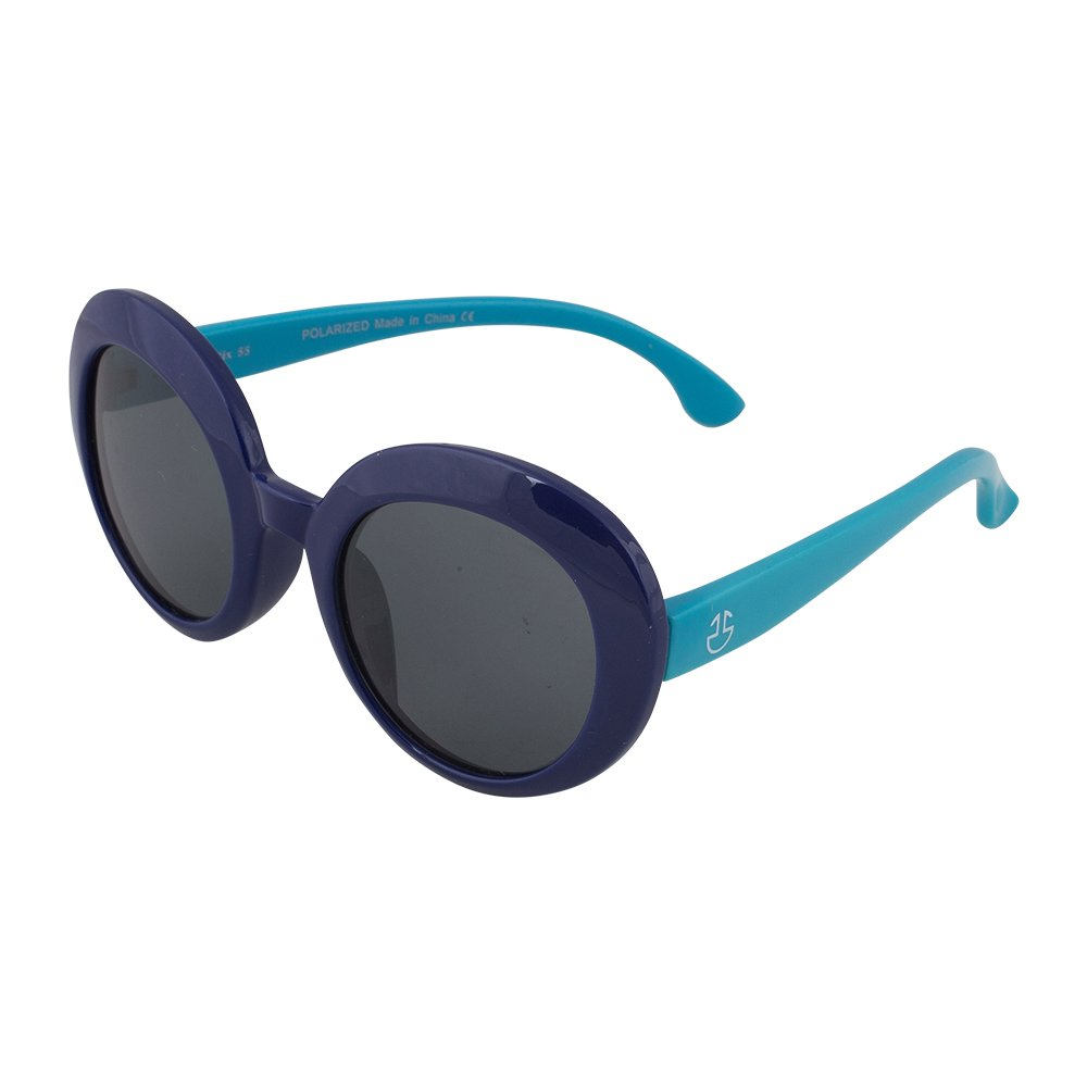 7de42784a63 Amazon.com  Kids Flexible Rubber Sunglasses for Boys and Girls - Navy and  Blue Oval Bendable and Unbreakable Frame with 100% UV Protection and  Polarized ...