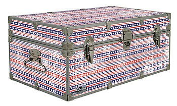 Fourth of July Americana Storage Trunk 32x18x13.5 Inches C/&N Footlockers Designer Trunk