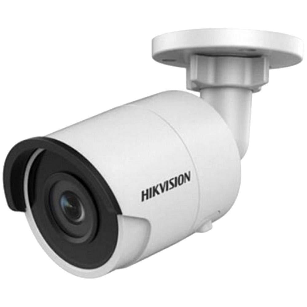 Visi/ón Nocturna de 30 m y Lente Fija de 2,8 mm para Interior//Exterior con Clase de protecci/ón IP67 4K C/ámara IP HIKVISION Bullet de 8 MP Grabaci/ón en Tarjeta SD y PoE