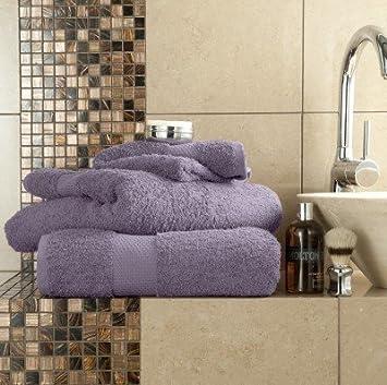 Juego de toalla de baño de algodón egipcio 700gsm Extra suave o cama de matrimonio Miami toallas de gran calidad, lavanda: Amazon.es: Hogar