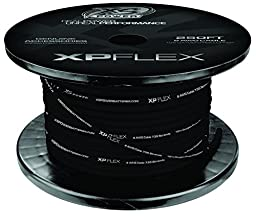 XS Power XPFLEX8BK-250 Iced Black 8 AWG Cable (735 Strands, 250\' Spool)