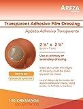 Transparent Adhesive Film Dressing Waterproof 2'' 3/8'' X 2'' 3/4'' (6 cm X 7 cm) 100 per Box Super Easy Application
