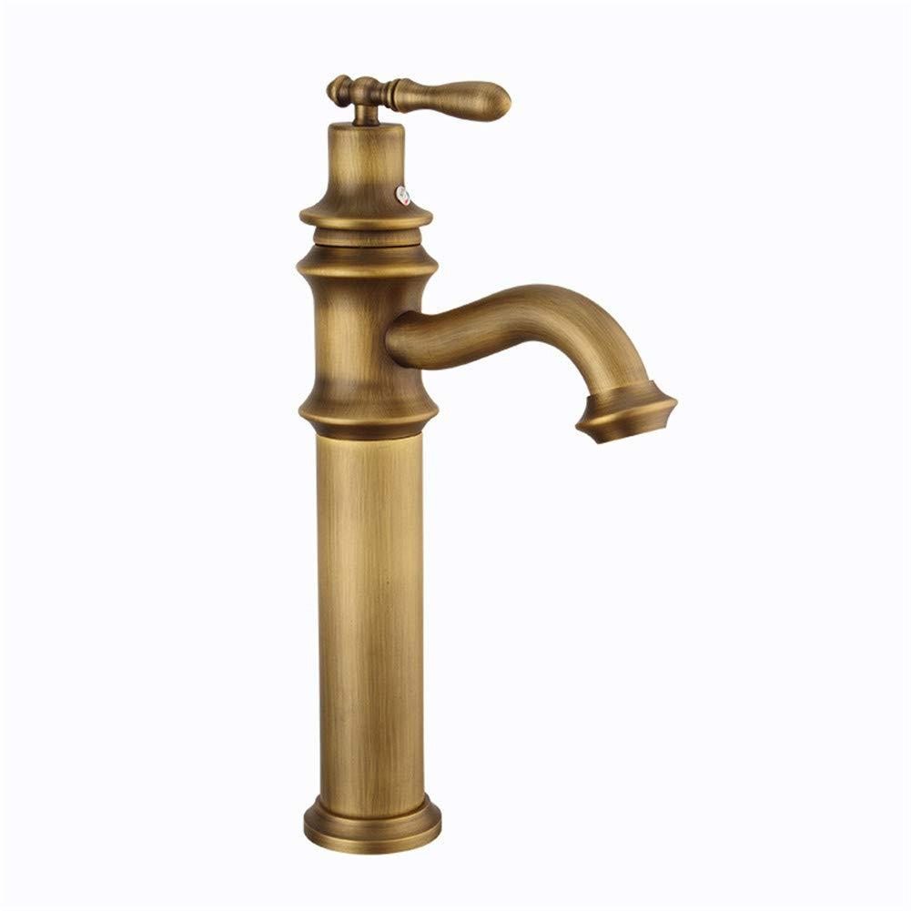 AQiMM WaterfallSpoutCommercialBathroomSinkFaucet Basin Sink Tap Bar Faucet Brass Vintage Single Handle Single Hole Cloakroom Kitchen Lavatory Sink Mixer Tap BasinMixerTap