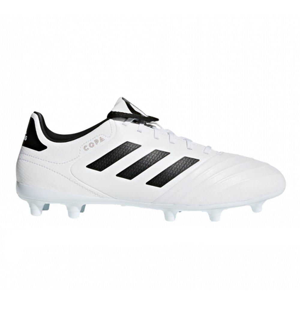 adidas Men's Copa 18.3 FG Soccer Shoe, White/Core Black/Tactile Gold, 9.5 M US