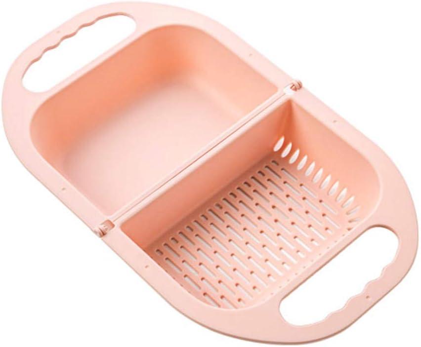 Soporte de la cesta para almacenar la cesta de lavado de frutas y verduras plegable Colador Colador Escurridor plegable con mango Herramientas de cocina Lavado Cesta de frutas Cestas de almacenamiento