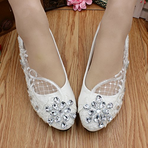 customize bridesmaid banquet Height Decals white Cn38 4 Party Summer amp; Wedding handmade And Bride 5cm rhinestones Dress Women's Heel Shoes Si spring 0TvZqc7
