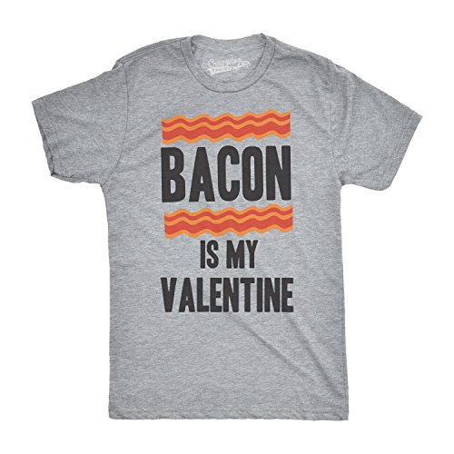 Crazy Dog TShirts - Mens Bacon Is My Valentine Funny Valentines Day Dating Relationship T shirt - Divertente Uomo Maglietta