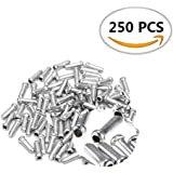 250PCS IFfree Alloy Road Mountain Bicycle Bike Shifter Brake Cable Tips Caps End Tips Crimp Silver.