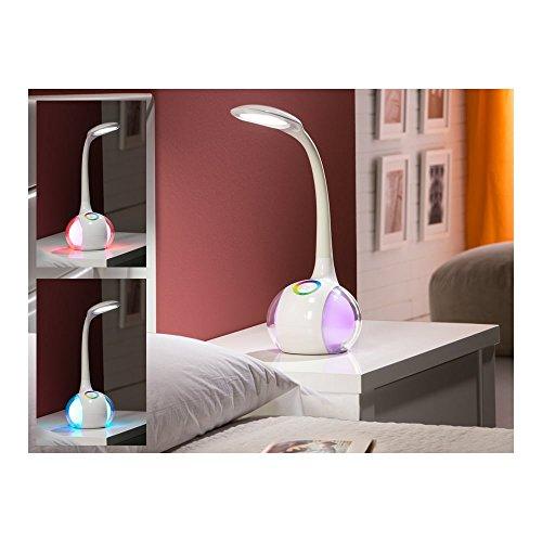 Schuller Spain 514390I4L Modern White Globe Table Lamp Living Room, bed room, Study, Bedroom LED, White Table Lamp with Multi Colour Globe   ideas4lighting by Schuller