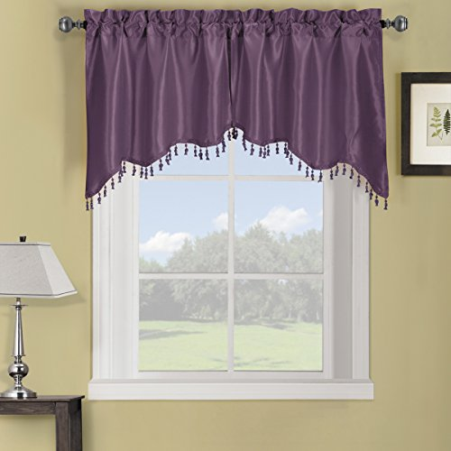 (Sheetsnthings 100% Polyester Purple Soho Swag Decorative Trim Window Valance 70