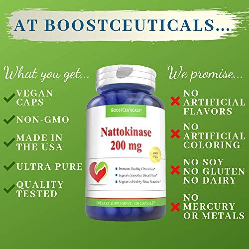 Amazon.com: nattokinase 200 mg 4000 FU 200 Count Suplemento ...