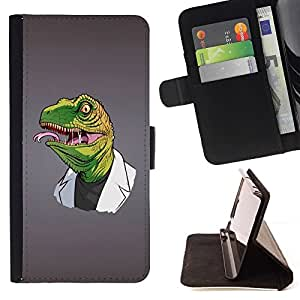 DEVIL CASE - FOR Apple Iphone 5C - Funny Reptile Reptilian Raptor Doctor - Style PU Leather Case Wallet Flip Stand Flap Closure Cover