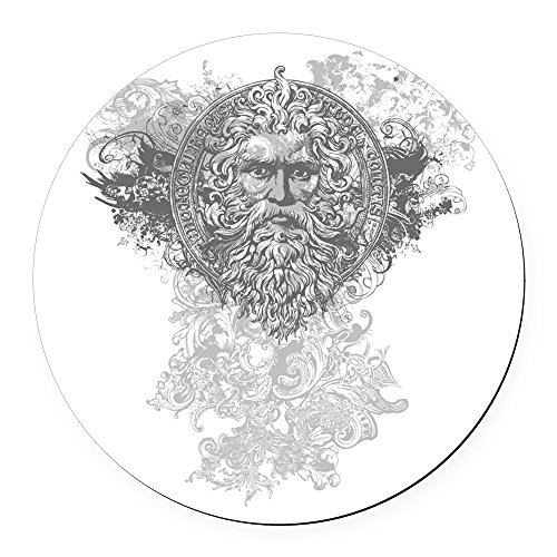 Round Car Magnet 5.5 Inch Look Like a Greek - Versace Lion