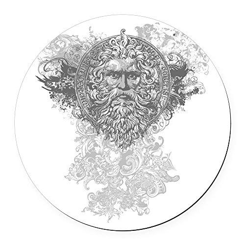 Round Car Magnet 5.5 Inch Look Like a Greek God