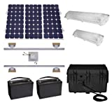 Wise Suninone Solar Shed Lighting and Power Kit Iv, Turn Key Kit, American Manufactured