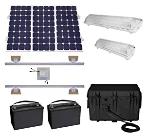 Amazon Com Suninone Solar Shed Lighting And Power Kit Iv
