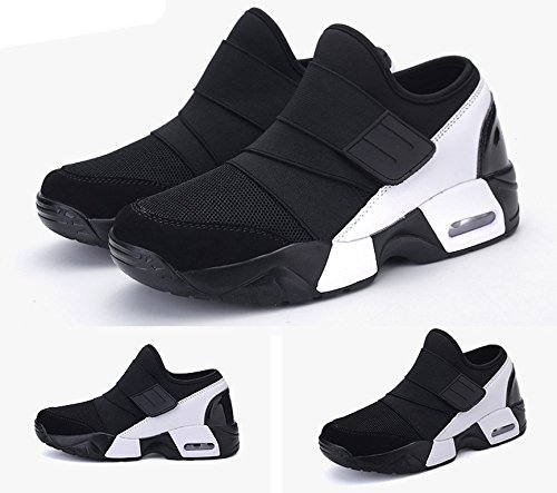 JiYe Mens Fashion Air Cushion Sneakers Mesh Casual Running Shoes Black wXivJew7S