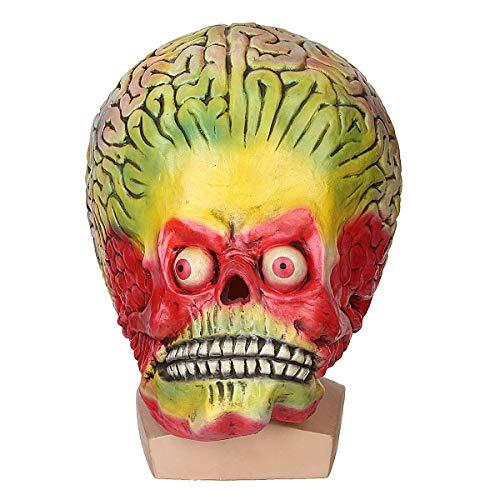 Casavidas Halloween Cosplay Alien Skull Martian Mask Scary Brain Party Costume Props