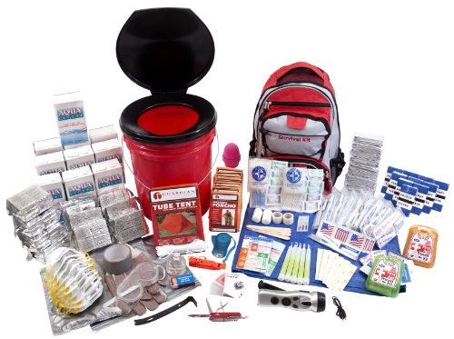 Guardian Survival Gear 5 Gallon Bucket with Toilet Seat Lid Emergency Kit, 10 Person by Guardian Survival Gear (Image #1)