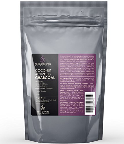 Coconut Activated Charcoal Powder, Large 8 Oz. Ultra Fine, Detoxifies Better Than Hardwood. Food Grade, Natural Teeth Whitener
