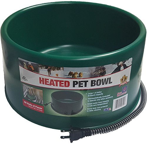 Farm Innovators Dog Bowl - Farm Innovators Heated Dog Cat Goat Pet 60 Watt 1.5 Gallon Plug In Water Bowl
