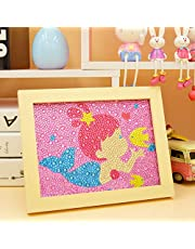 PLUSON DIY Diamond Painting for Kids | Full Drill Painting by Number Kits | Arts Crafts | Shiny Sparkle Mosaics | Home Wall Decor | Gifts for Christmas Birthday New Year (Little Mermaid)